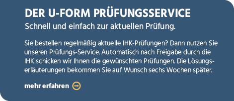 U-Form Verlag Shop - Fachverlag für IHK Zwischenprüfung IHK ...